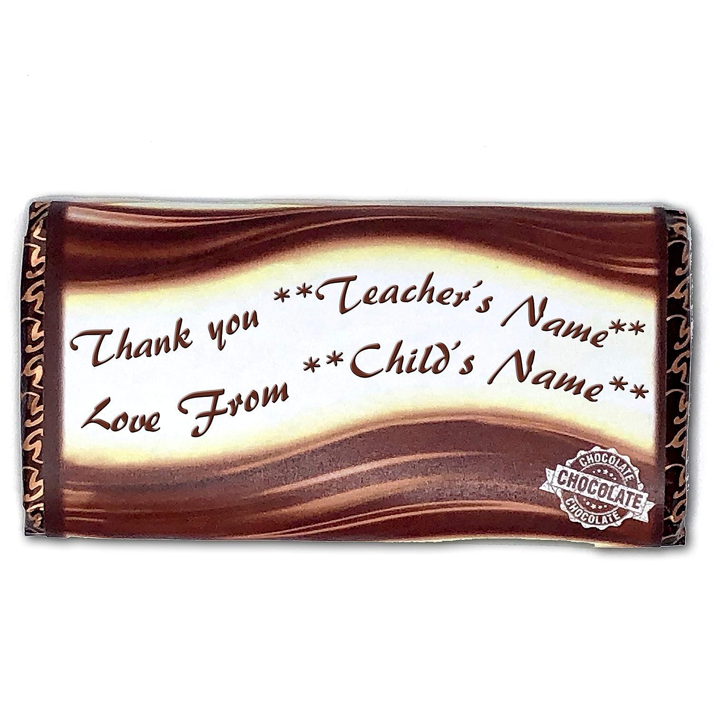 Personalised Chocolate Bar Wrapper Christmas Birthday Fits Galaxy etc.
