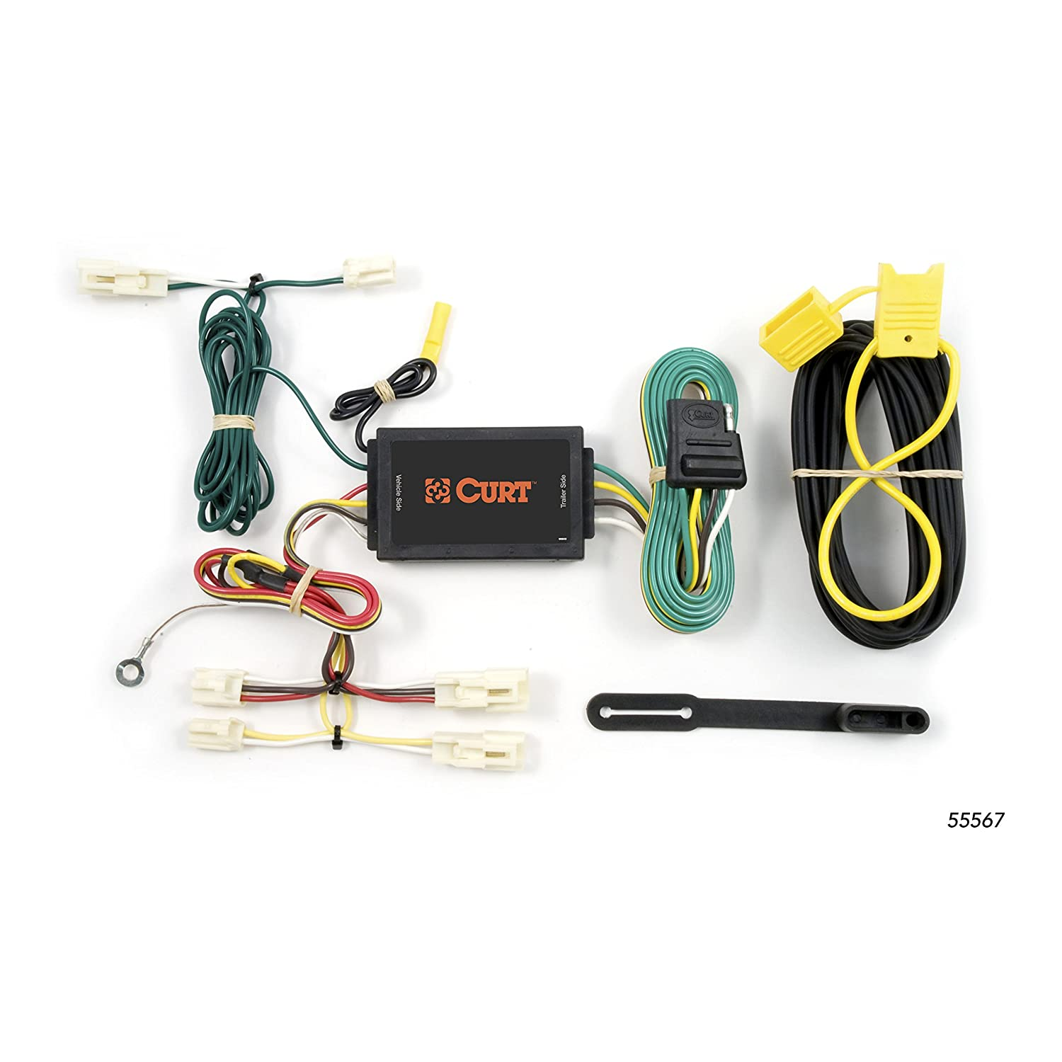 CURT 55567 Vehicle-Side Custom 4-Pin Trailer Wiring Harness for Select on