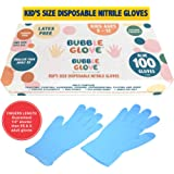 Bubble Glove: Best Kids Nitrile Gloves (Latex Free, Powder Free, odorless, Food Safe) - Prevent Skin Allergy or Irritation fo