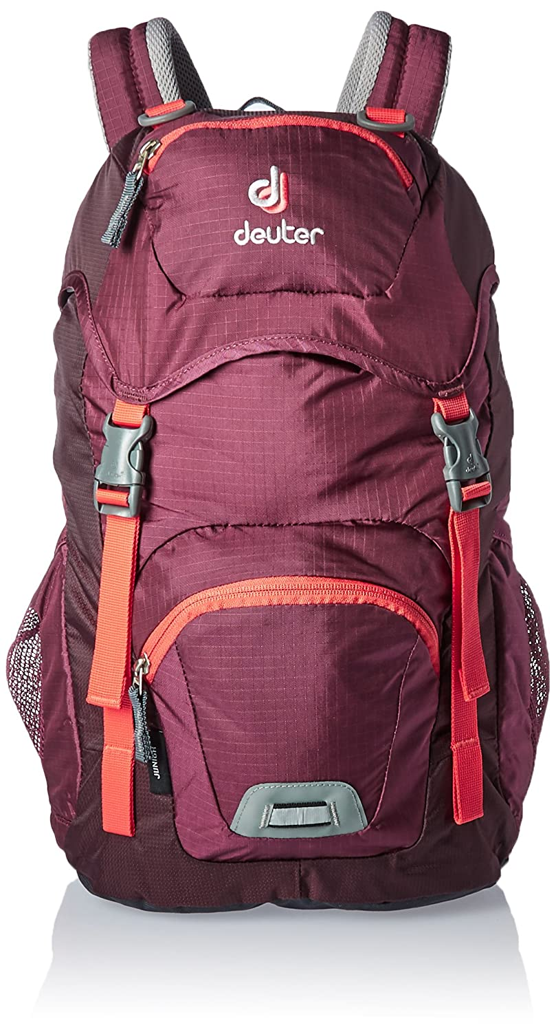Deuter Backpack Junior 18 L Mountaineering Purple Deuter Junior Sacs à dos mixte enfant Rouge (Blackberry/Aubergine) 24x36x45 cm (W x H L)