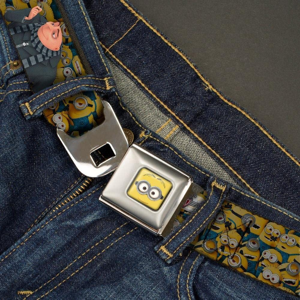 1.0 Wide Gru Poses//Stacked Minions 20-36 Inches in Length Buckle-Down Seatbelt Belt