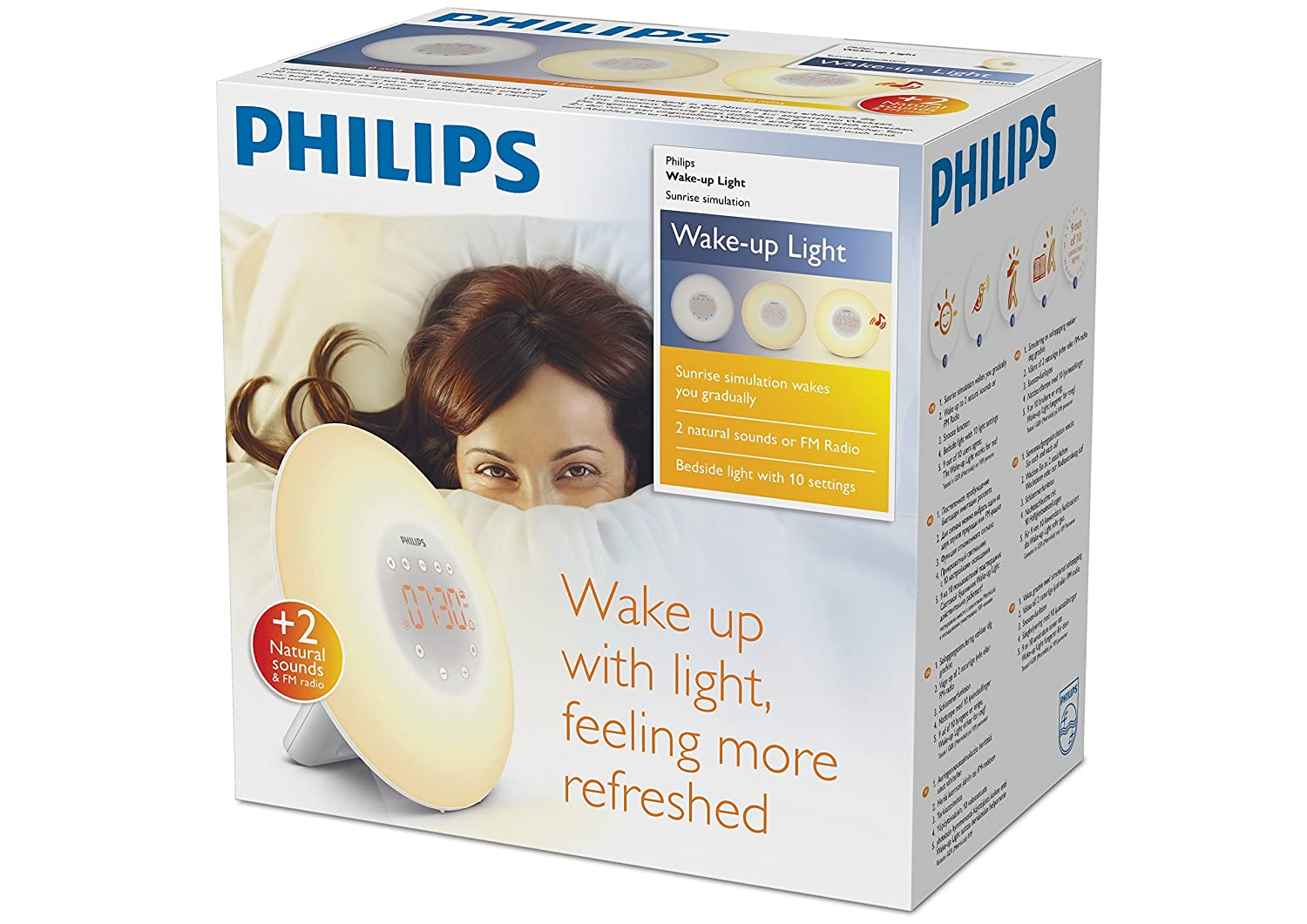 Philips Wake-Up Light Alarm Clock HF3505/01 with Sunrise Simulation - 2  Natural Sounds and Radio: Amazon.co.uk: Health & Personal Care