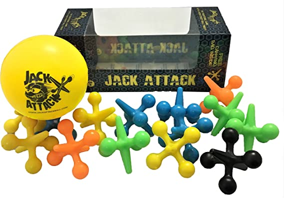 Jacks Game Metal Crosses Ball Knucklebones Fivestones Classic Board Game