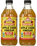 Bragg USDA Gluten Free Organic Raw Apple Cider Vinegar, 16 Fl Oz, 2 Pack