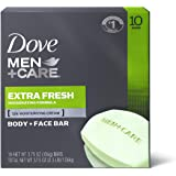 Dove Men+Care 3 in 1 Bar To Clean and Hydrate Skin Extra Fresh More Moisturizing Than Bar Soap 3.75 oz 10 Bars