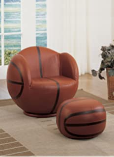 Acme 05527 2 Piece All Star Set Chair And Ottoman, Basketball
