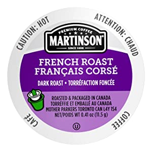 Martinson Single Serve Coffee Capsules, French Roast, Compatible with Keurig K-Cup Brewers, 24 Count (816932200360)