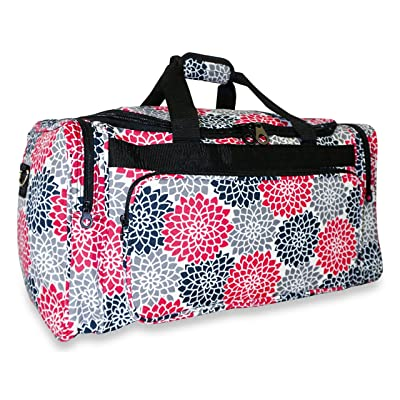 Ever Moda Floral Duffle Bag for Women