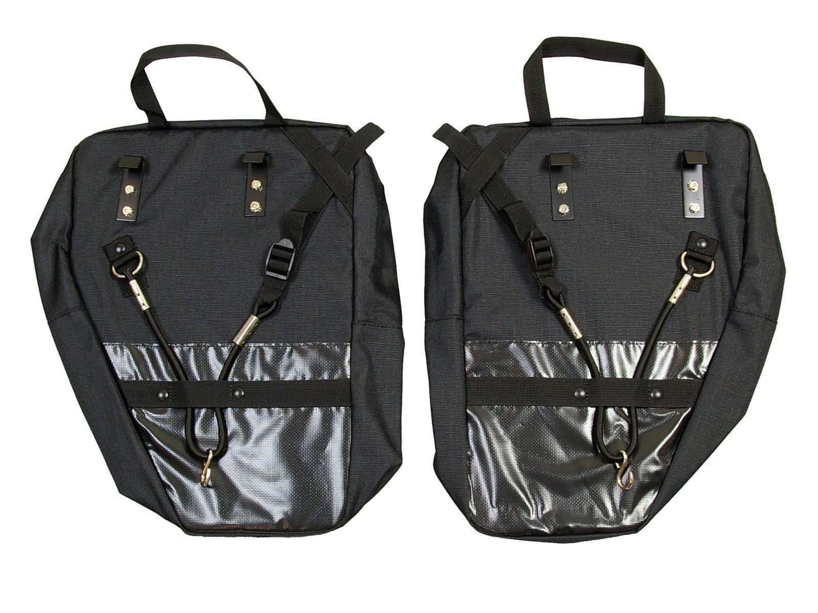 Bushwhacker® Moab Black - Bicycle Rear / Front Pannier Cycling Rack Pack Bike Bag - w/ Reflective Trim - Sold as Pair by Bushwhacker (Image #2)