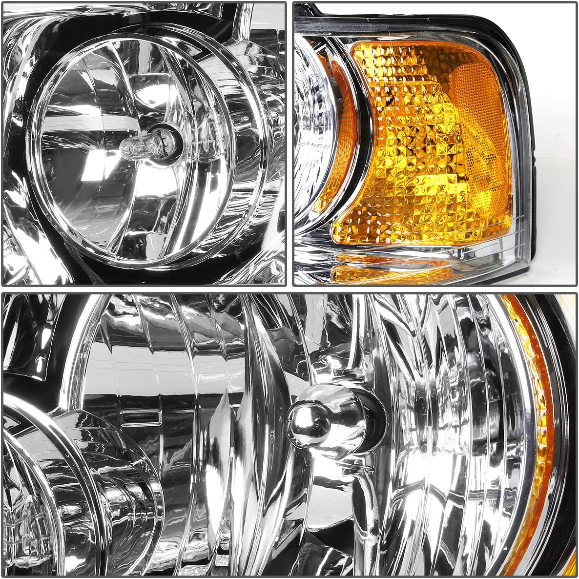 DNA Motoring OEM-HL-0038-L Factory Style Driver//Left Side Headlight Lamp Assembly Replacement