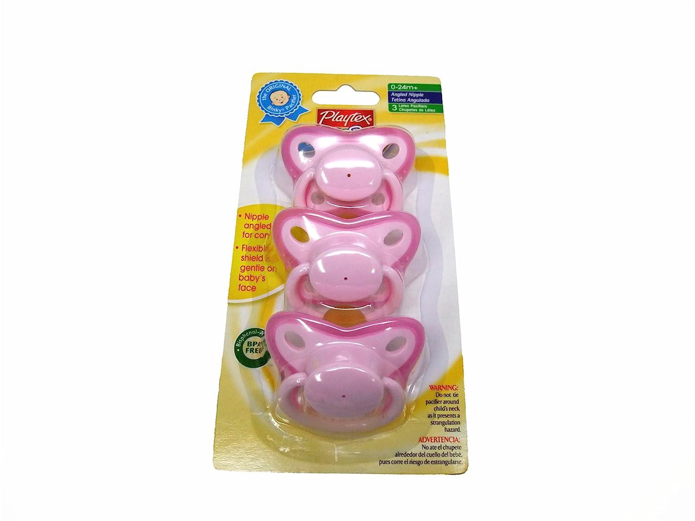 Playtex Binky Pacifier 3 Per Pack (Pink)