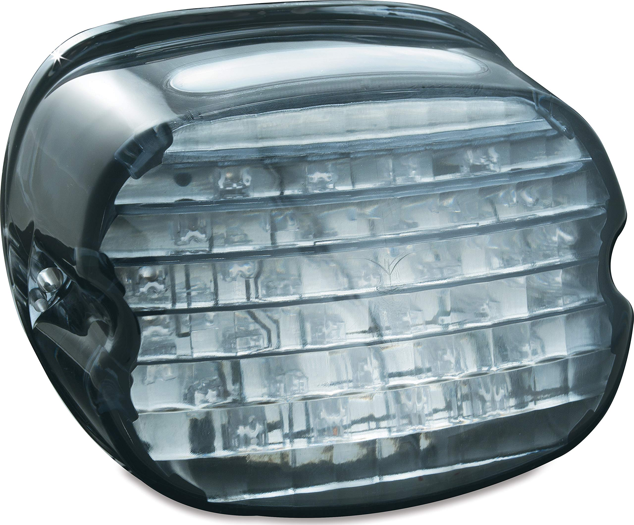 Kuryakyn 5438 Motorcycle Lighting: Low Profile LED Taillight Conversion Kit with License Plate Illumination Light for 1988-2019 Harley-Davidson Motorcycles, Smoke Lens by Kuryakyn