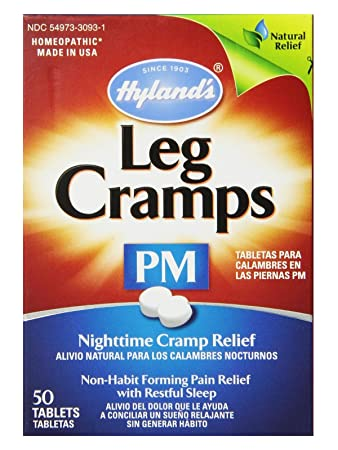 Hyland's Leg Cramps PM With Quinine Tablets 50 ea (Pack of 6)