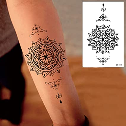 Amazon.com: QS-C006 Black Henna Scar Cover Temporary Body Arm ...