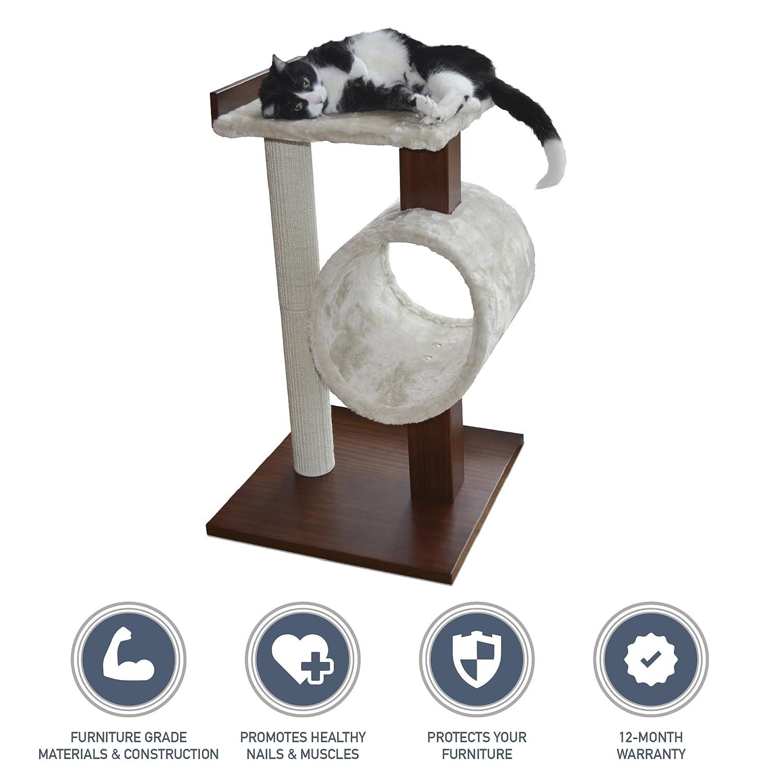 modern cat tree furniture. new petfusion modern cat activity tree u0026 scratching post furniture grade mdf catnip spray amazonca pet supplies