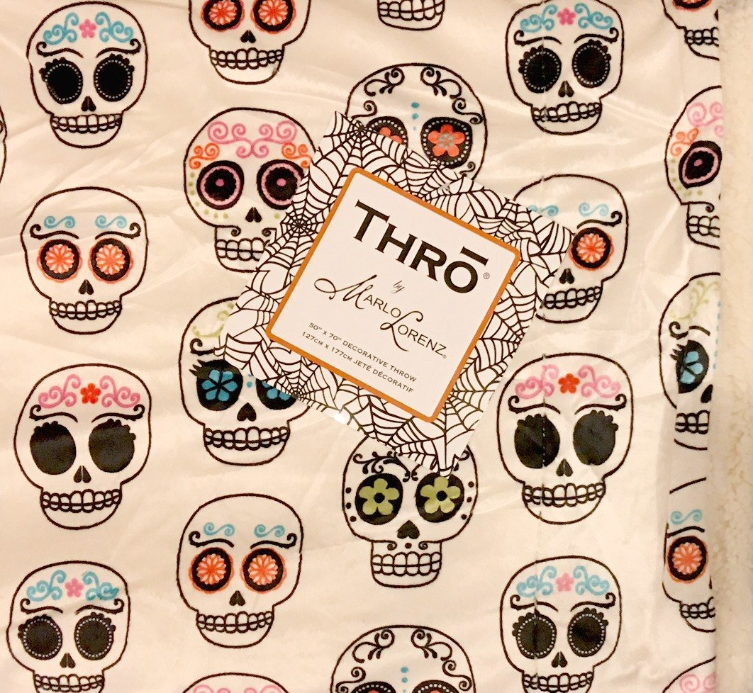 Sugar Skull Luxury Plush Fleece Throw | Colorful Sugar Skulls