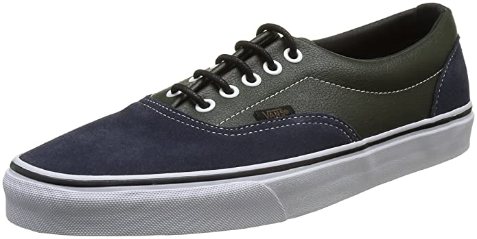 Vans Era Unisex-Erwachsene Low-Top Sneakers Grün Blau (Parisian Night/Rosin)
