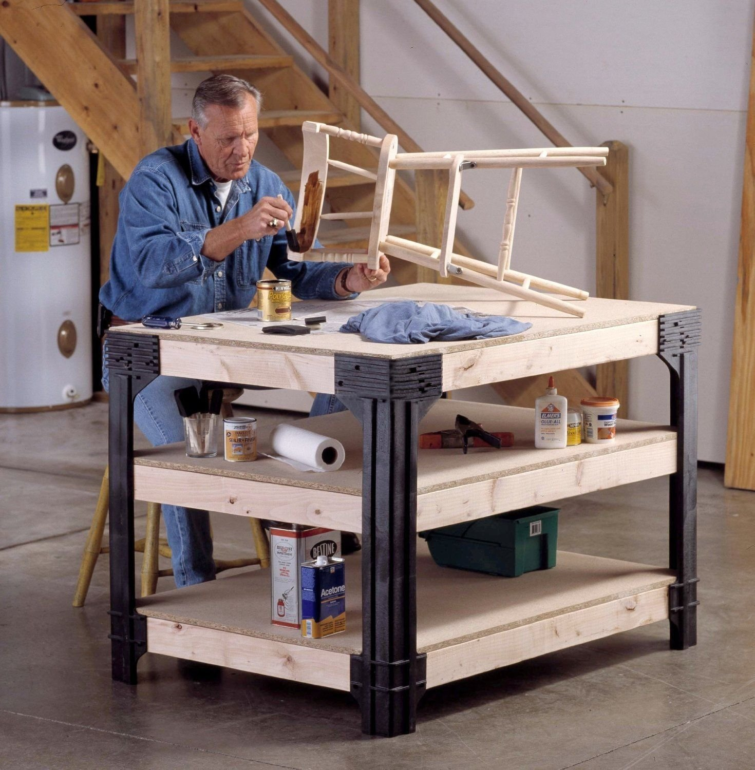 Amazon.com (Ship from USA) DIY Custom Workbench Storage Wooden Shelf Garage Shop Workshop Table Bench Kit /ITEM NO#E8FH4F854133605 Kitchen u0026 Dining & Amazon.com: (Ship from USA) DIY Custom Workbench Storage Wooden ...