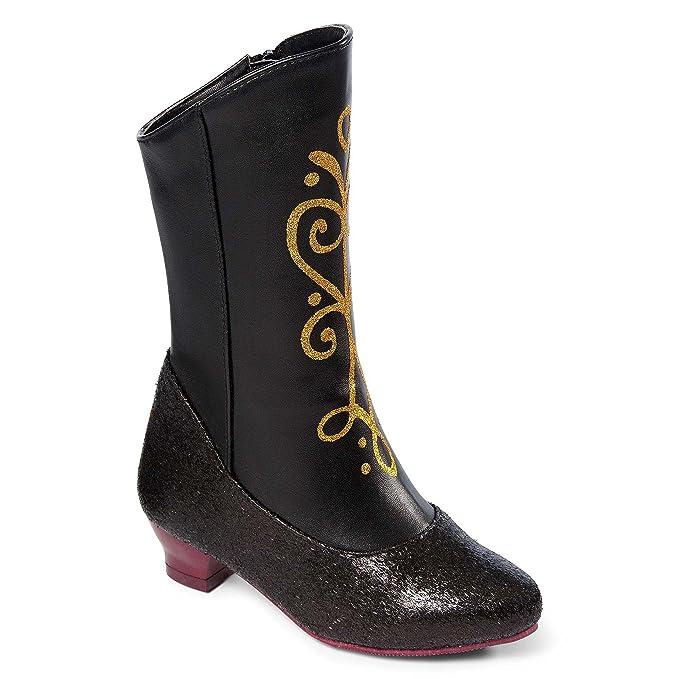 Disney Frozen Princess Anna Negro y Dorado Tamaño de botas de disfraz para niñas (11/12): Amazon.es: Ropa y accesorios
