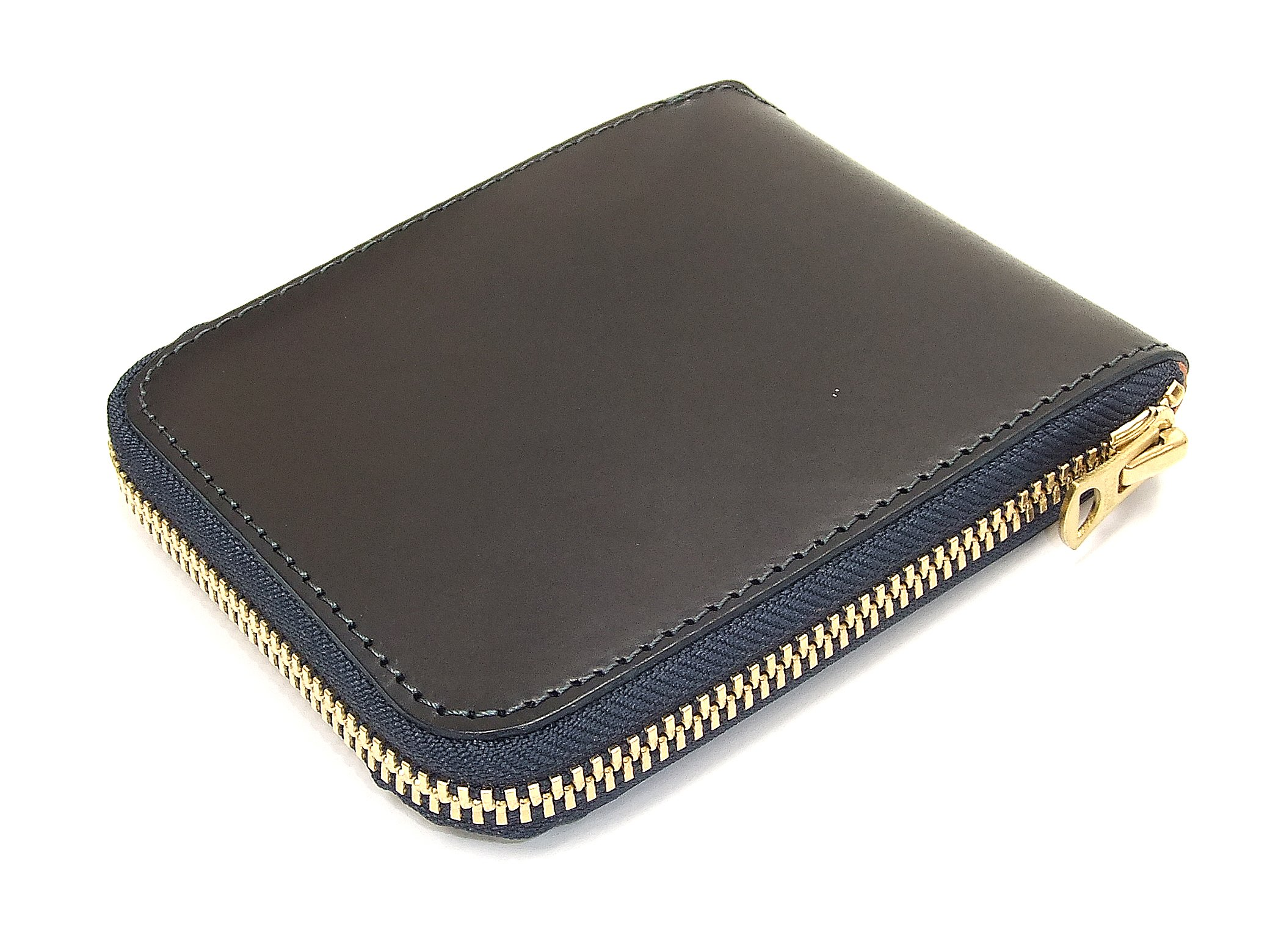 Barns Outfitters Men's Casual Zip Around Leather Short Wallet LE-3018 (One-Size, Dark Navy Blue)