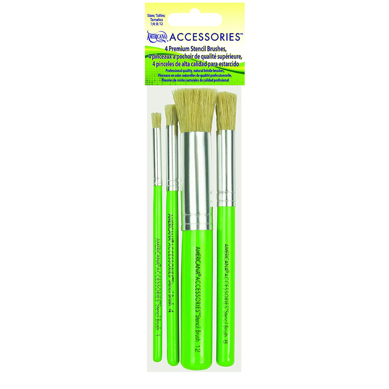DecoArt Americana Premium Stencil Brush Set DABK20-K