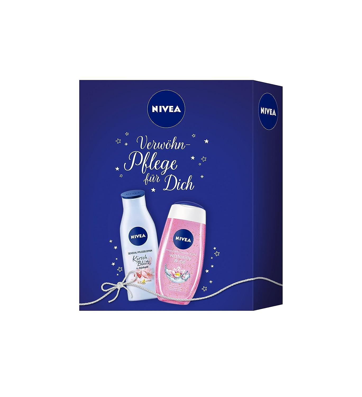 Nivea regalo con gel de ducha y loción corporal, Sensual Care Set, 2unidades) 91773-01005-17