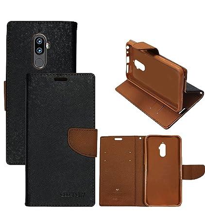 super popular b856f 6b6f0 Hupshy Lenovo K8 Note Flip Cover/Premium Luxury Slim Artificial Leather  Case for Lenovo K8 Note/Wallet Case for Lenovo K8 Note - Brown