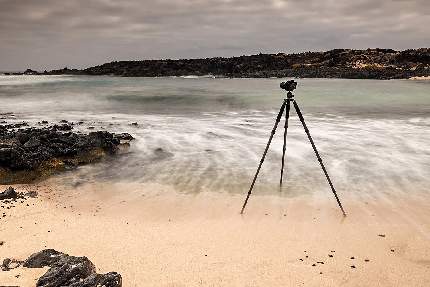 professional camera tripod with 30kg load capacity. T7S ball head Rollei Rock Solid Alpha Mark II carbon tripod incl