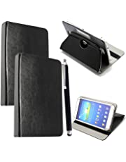 """10inch Tablet Case Cover - Universal Leather Stand Case Folio Cover Magic Leather 360° Rotating Case Fits for ALL 10"""" Inch & 10.1"""" Inch Tablets + Stylus Pen (BLACK)"""