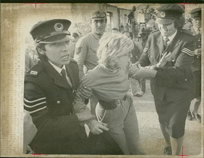 Amazon com: Vintage photo of A Greek Cypriot demonstrator is