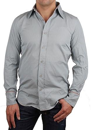 Diesel Camisa De Hombre Camisa Ocio Manga Larga Skambya Talla S #1 - algodón, Hellblau / Grau, 100% algodón 100% algodón, hombre, S, Azul Claro / Gris: Amazon.es: Ropa y accesorios