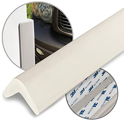 urbanhouse Ultra High-Density Heavy Duty Corner Guard Edge Protector & Bumper for Parking Garages, Workshops and Warehouses - Neutral Off White, 24 Inches - 1 Each: Automotive