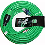 ProLock 12 Gauge 3 Conductor SJTW 100 Foot Extension Cord With Lighted Ends - Green