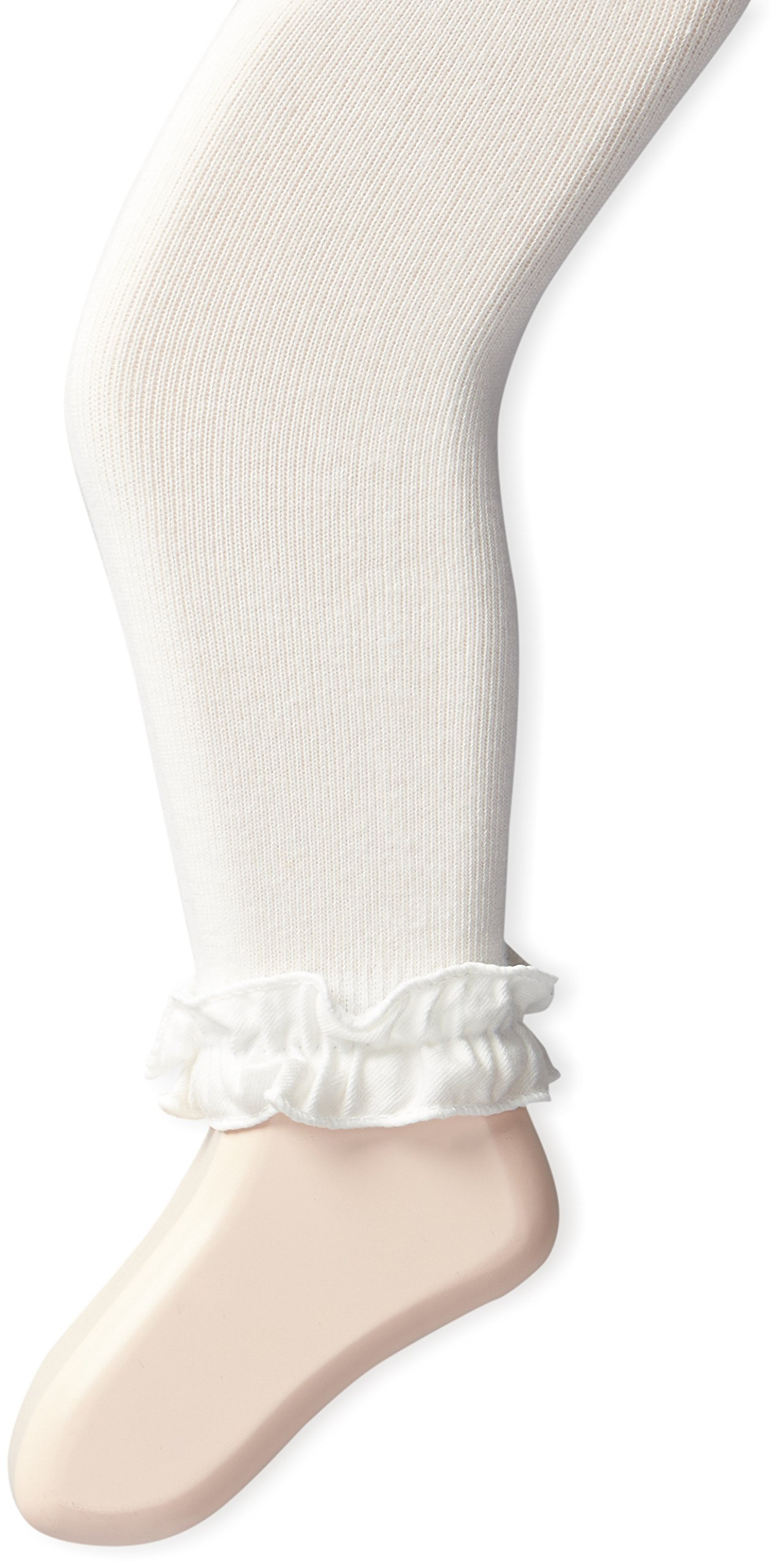 Jefferies Socks Baby Girls' Ruffle Footless Tight, Ivory, 0-6 Months by Jefferies Socks