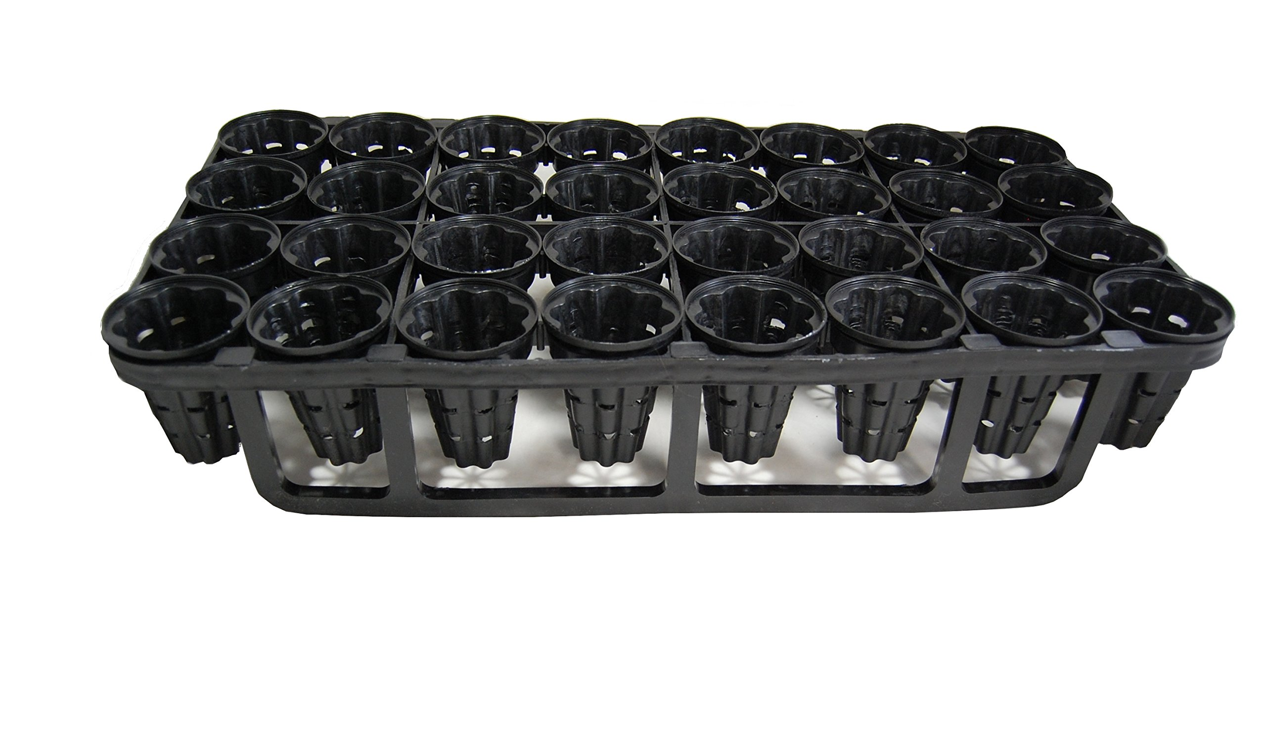 Air Root Pruning Pots & Tray - Heavy Duty - Accelerator - Propagation - 5 Trays &160 Pots 3'' in diameter x 4'' depth - 1 set by Grower's Solution