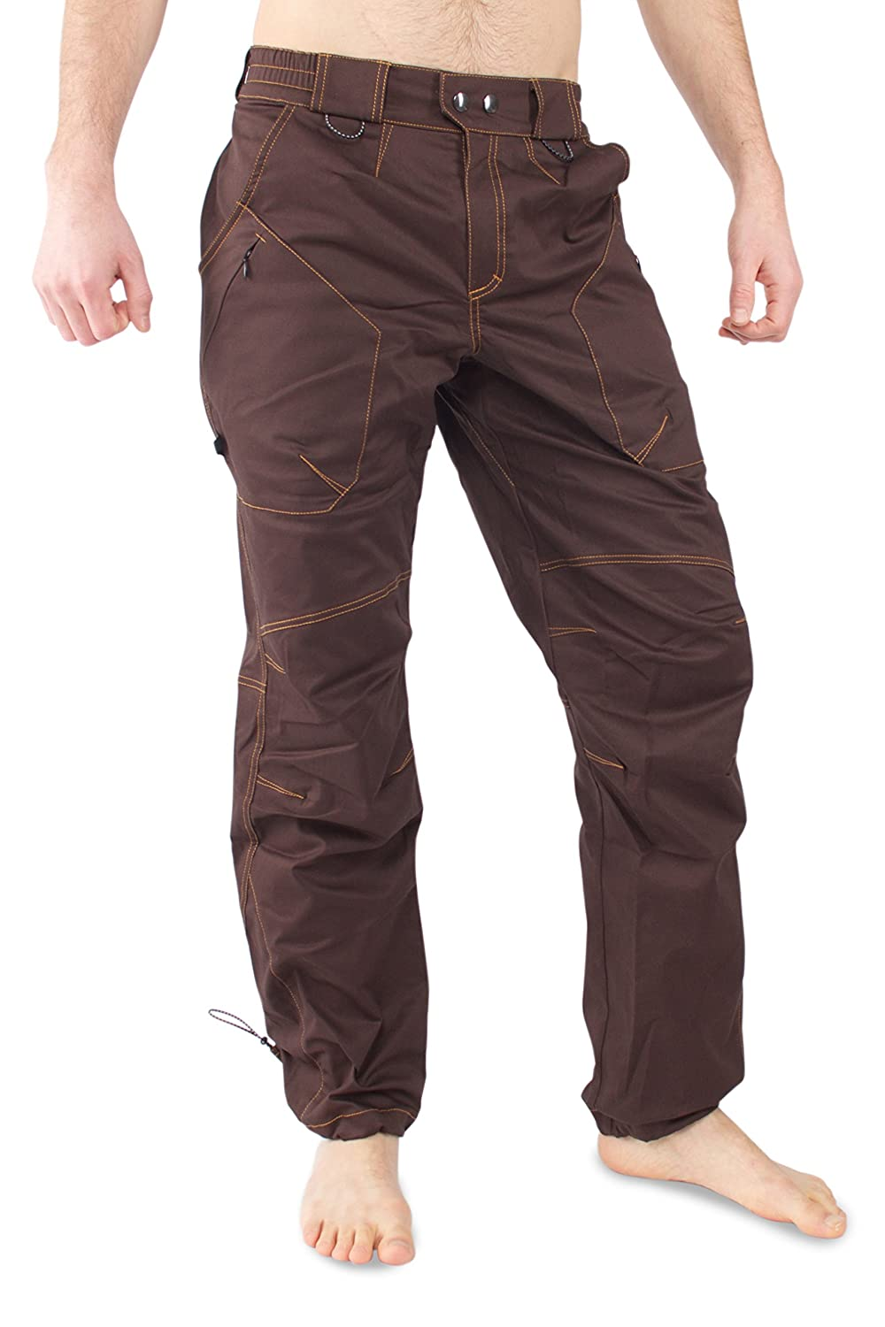 Ucraft Terra Rock Climbing and Bouldering Pants. Quick Drying, Durable, Stretching Anatomic (S terracotta) Ucraft climbing