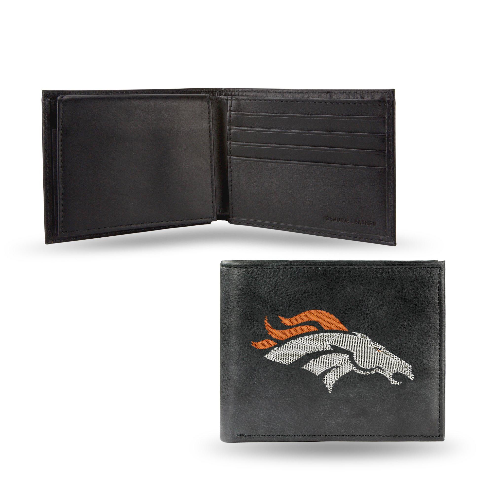 NFL Denver Broncos Embroidered Leather Billfold Wallet