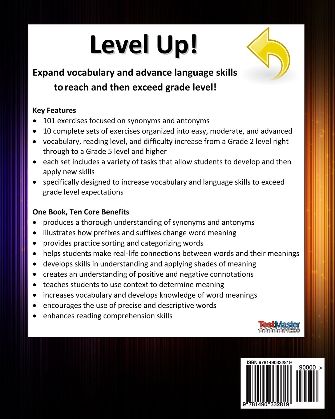 LEVEL UP VOCABULARY WORKBOOK Synonyms and Antonyms: Aligned to the ...