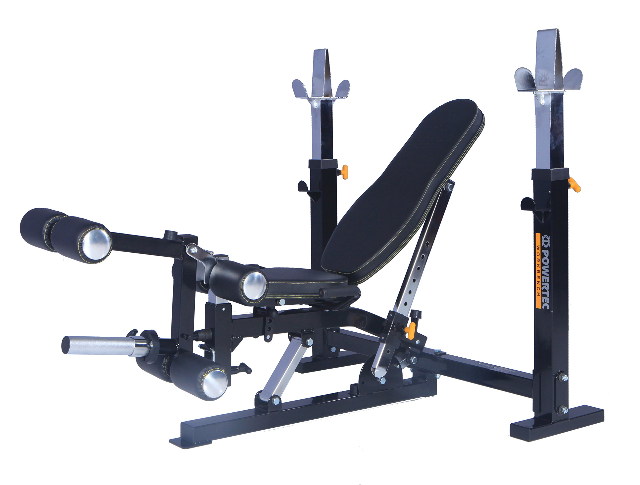 Powertec Workbench Olympic Bench (WB-OB15) + Leg Lift Accessory (WB-LLA16) by Powertec Fitness
