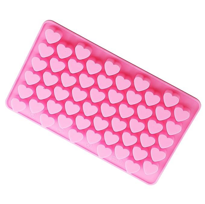 Amazon.com: Bestjybt Silicone Mini Heart Shape Silicone Ice Cube ...