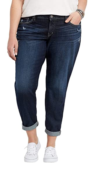 limited price variety design best supplier Silver Jeans Co. Women's Plus Size Boyfriend Relaxed Fit Jeans