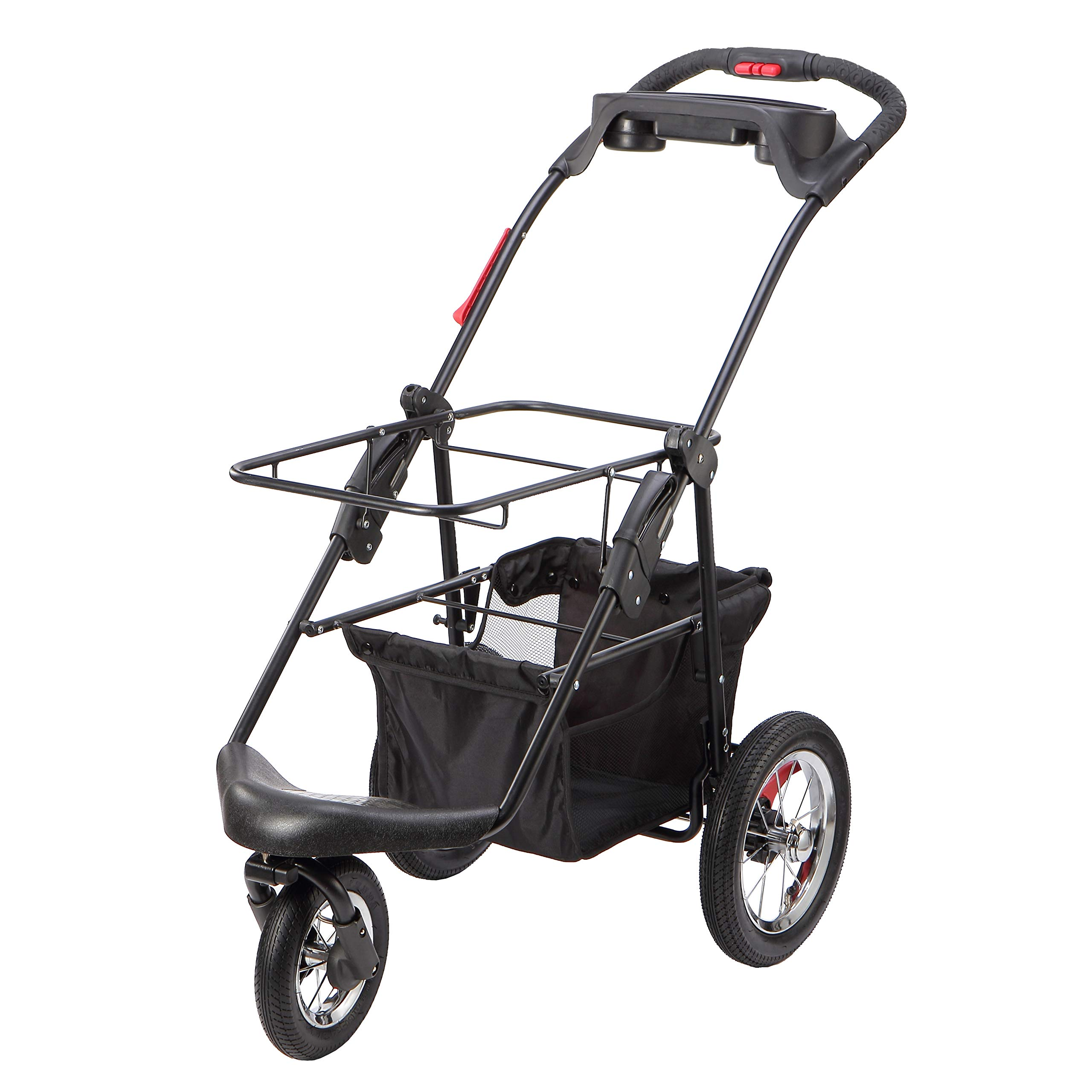 Petique Pet Stroller, Black, One Size by Petique