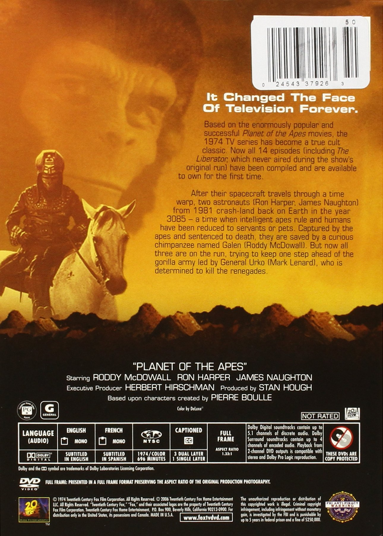 Planet Of The Apes - Tv Series by 20TH Century Fox UK