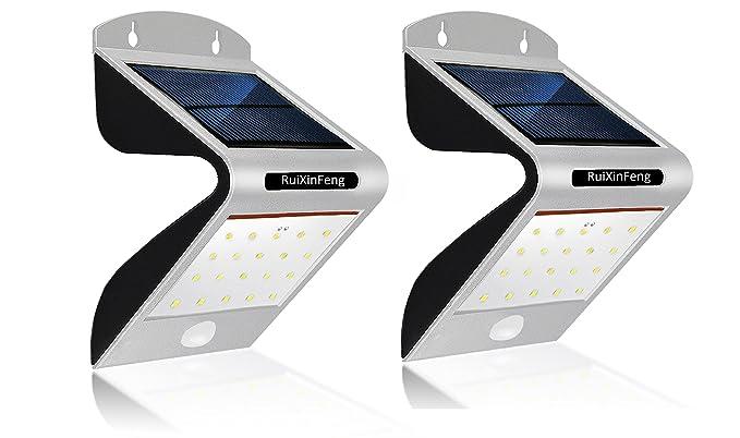 Luz solar con 20 luces led para exterior, con sensor de movimiento PIR, luz