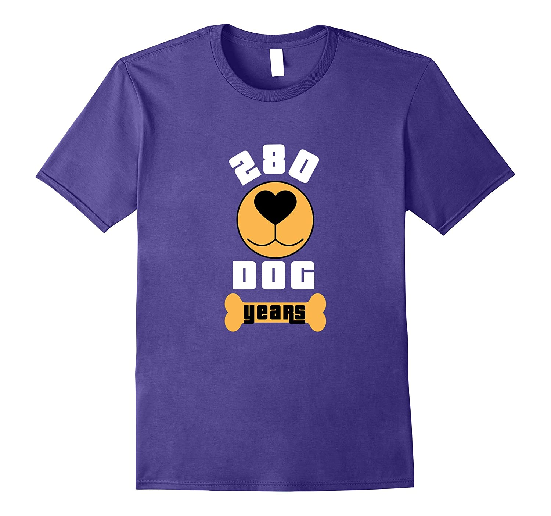 280 Dog Years 40 40th Birthday T-Shirt Fortieth Mom Dad Men-T-Shirt