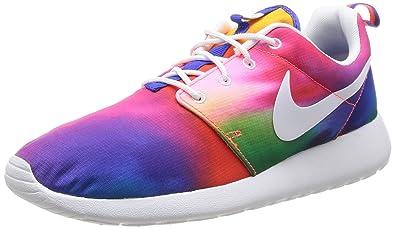 official photos 8aa64 3b372 Nike Rosherun Print Mens Running Shoes 655206-518 Court Purple White-Total  Crimson 9 M US