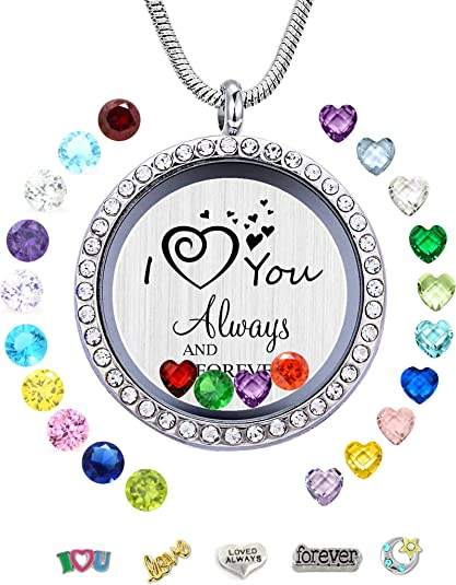 Heart MOM Necklace Mothers Day Birthday Gift for Nana Aunt Niece Crystal Sister