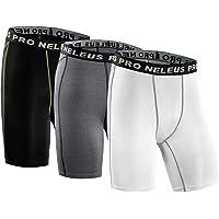 Neleus Men's 3 Pack Compression Short