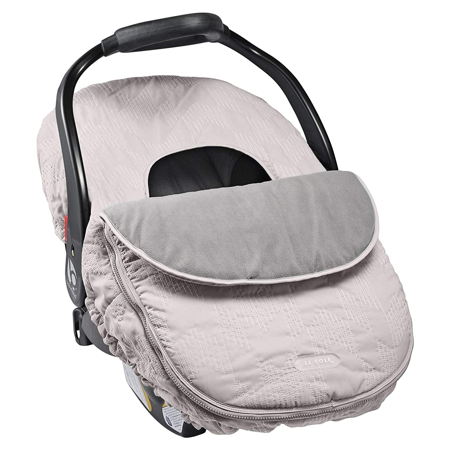 JJ Cole - Car Seat Cover, Weather Resistant Canopy to Protect from The Cold and Wind, Grey Herringbone, Birth and Up J00933