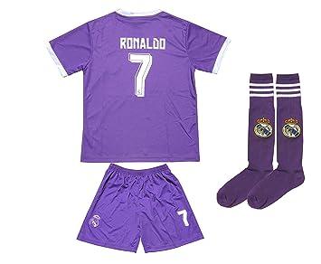2016/2017 Real Madrid # 7 RONALDO Away calcetines de fútbol niños Jersey y pantalones cortos para jóvenes tamaños, 4-5 YEARS: Amazon.es: Deportes y aire ...